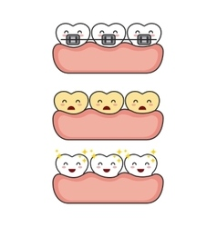 Dental hygiene design vector