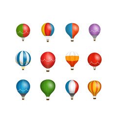 Different color baloons clipart vector