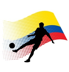 ecuador soccer player against national flag vector image