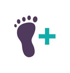 Feet care icon foot health icon vector
