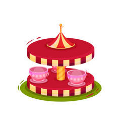 flat icon of merry-go-round children vector image