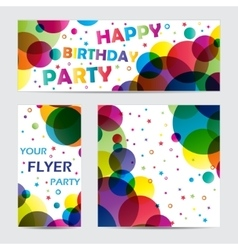 Flyers with circles vector