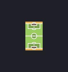 football field computer symbol vector image