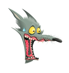 Funny wolf vector image