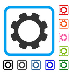Gear framed icon vector