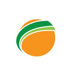 globe sphere earth orange logo image vector image