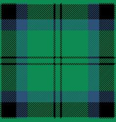 green blue and black tartan plaid seamless pattern vector image