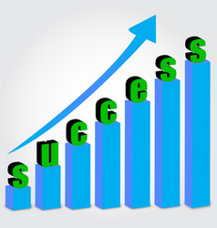 growth chart success vector image