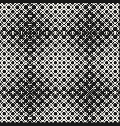 Halftone seamless pattern with circles crossing vector
