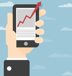 Hand Smart Phone vector image