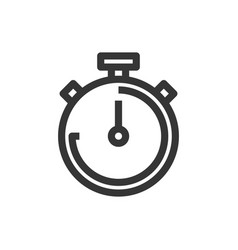 hand stopwatch line style isolated icon vector image