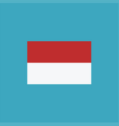 indonesia flag icon in flat design vector image