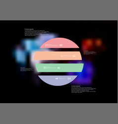 infographic template with circle horizontally vector image
