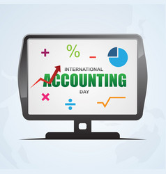 International accounting day design banner vector