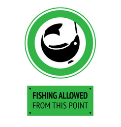 Label fishing allowed vector