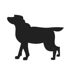 Labrador retriever black silhouette vector