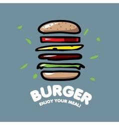 Logo burger vector