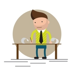 Man standing and working vector