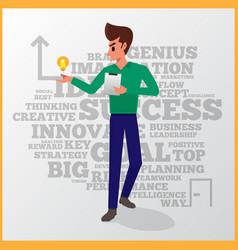 man success business vector image