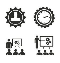 management consulting icon set vector image