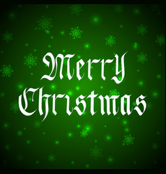 merry christmas lettering in gothic style vector image