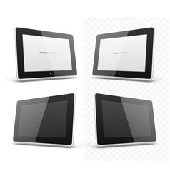 Mobile device hd tablet screen vector