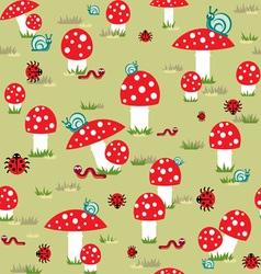 mushroom background vector image