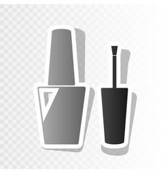 nail polish sign new year blackish icon vector image