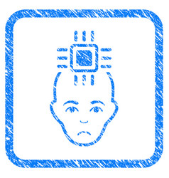 Neural computer interface framed stamp vector