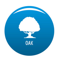 oak tree icon blue vector image