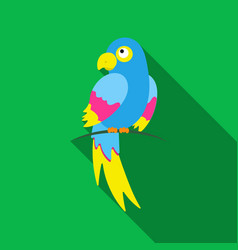 Parrot icon flat singe animal icon from the big vector