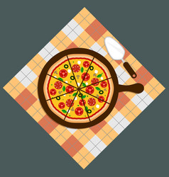 Pizza pizza deliverypizza on chalkboard vector
