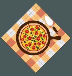 pizza pizza deliverypizza on chalkboard vector image