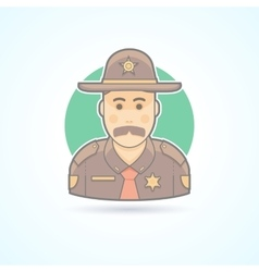 Police officer texas chief cop icon vector image