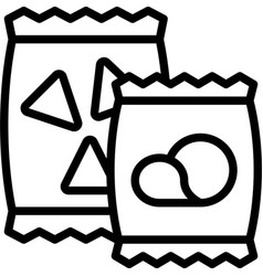 Potato chip icon supermarket and shopping mall vector