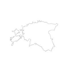 republic of estonia map vector image