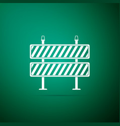 road barrier icon isolated on green background vector image