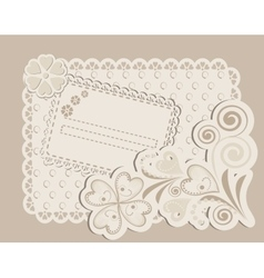 Romantic scrapbooking for invitation vector image