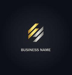 s line shape gold logo vector image