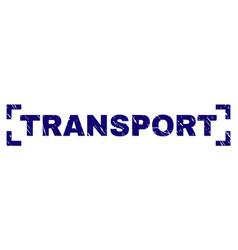 Scratched textured transport stamp seal inside vector