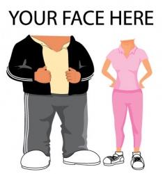 sporty cartoon template vector image