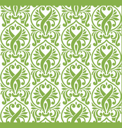 Spring color damascus seamless pattern background vector