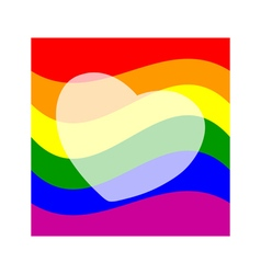 Stock background with gay pride design vector image