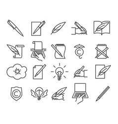 storytelling icons set vector image