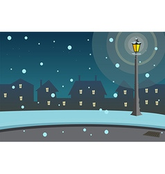 Street lamps background vector image