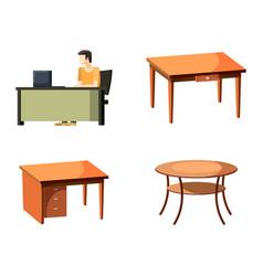 table icon set cartoon style vector image
