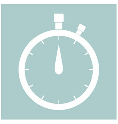 the stopwatch the white color icon vector image