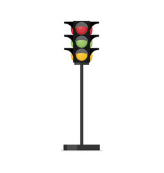 traffic light single flat icon on white vector image