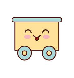 train wagon toy kawaii character vector image