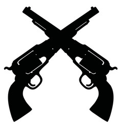 two classic american handguns vector image